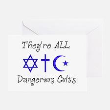 Dangerous Cults Greeting Card