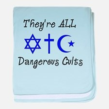Dangerous Cults baby blanket