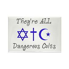 Dangerous Cults Rectangle Magnet