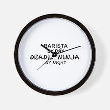 Barista Deadly Ninja Wall Clock