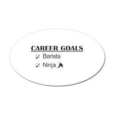Barista Ninja Career Goals Wall Decal