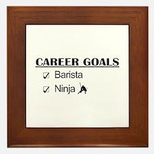 Barista Ninja Career Goals Framed Tile