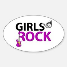 Girls Rock Guitar Piano Keys & Musi Decal