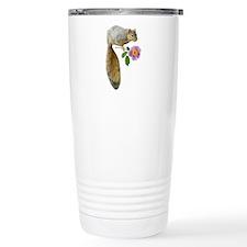 Squirrel with Flower Travel Coffee Mug