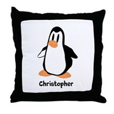 Personalized Penguin Design Throw Pillow