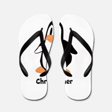 Personalized Penguin Design Flip Flops
