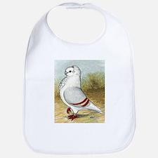 Old German Owl Pigeon Portrait Bib