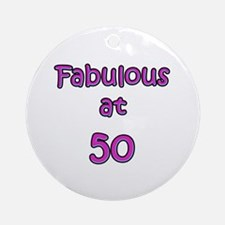 Fabulous 50 Ornament (Round)