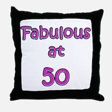 Fabulous 50 Throw Pillow