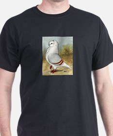 Old German Owl Pigeon Portrait T-Shirt