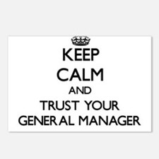 Keep Calm and Trust Your General Manager Postcards