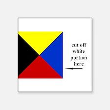 "Unique Navy code flags Square Sticker 3"" x 3"""