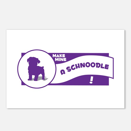 Make Mine Schnoodle Postcards (Package of 8)