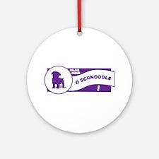 Make Mine Schnoodle Ornament (Round)