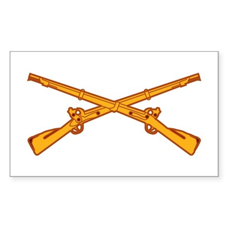 Infantry Branch Insignia Rectangle Sticker