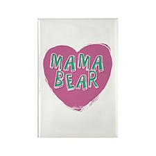 Mama Bear Heart Magnets