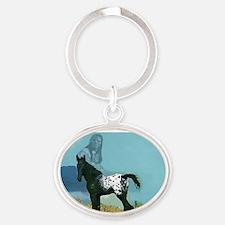 Nez Perce Pony Oval Keychain