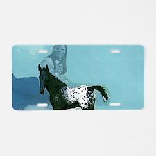 Nez Perce Pony Aluminum License Plate