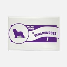 Make Mine Schapendoes Rectangle Magnet (100 pack)