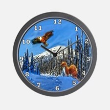 Eagle and Weasel Wall Clock