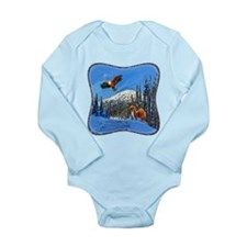 Eagle and Weasel Long Sleeve Infant Bodysuit