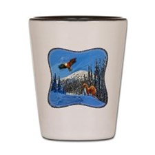 Eagle and Weasel Shot Glass
