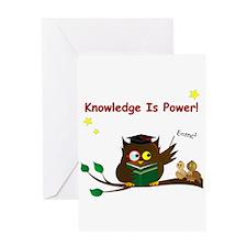 Teacher Wise Owl Card Greeting Cards