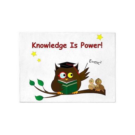 Teacher Wise Owl 5'x7'Area Rug