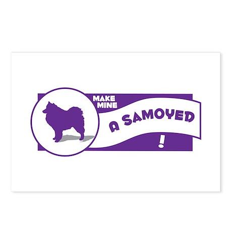 Make Mine Samoyed Postcards (Package of 8)