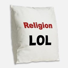 Religion LOL Burlap Throw Pillow