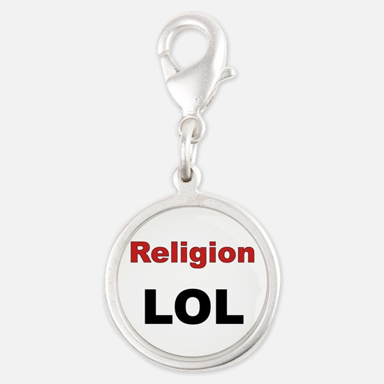 Religion LOL Silver Round Charm
