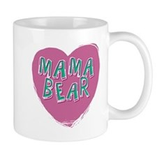 Mama Bear Heart Mugs
