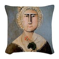 Martha Washington Woven Throw Pillow