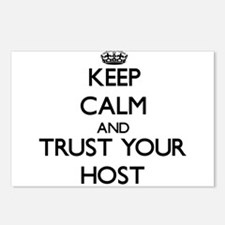 Keep Calm and Trust Your Host Postcards (Package o