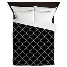 Chain Link Fence Queen Duvet