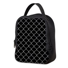 Chain Link Fence Neoprene Lunch Bag