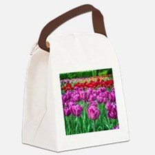 Tulip Field Canvas Lunch Bag