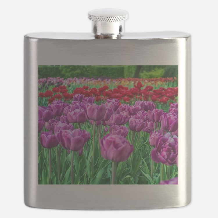 Tulip Field Flask