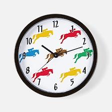Equestrian Horses Wall Clock