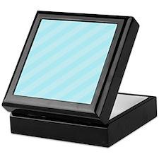 Baby Blue Striped Keepsake Box