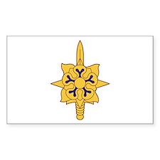 Military Intelligence Branch Sticker (Rectangular
