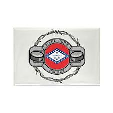 Arkansas Hockey Rectangle Magnet