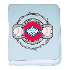 Arkansas Baseball baby blanket