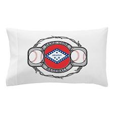 Arkansas Baseball Pillow Case