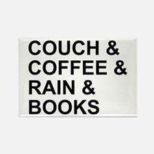 Coffee, Couch, Rain & Books Rectangle Magnet