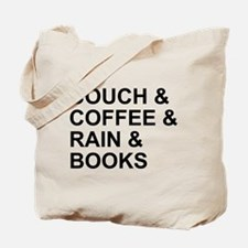 Coffee, Couch, Rain & Books Tote Bag