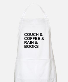 Coffee, Couch, Rain & Books Apron