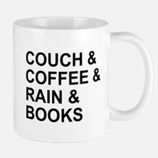 Coffee, Couch, Rain & Books Mug