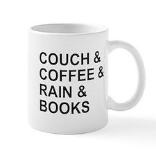 Coffee, Couch, Rain & Books Mug