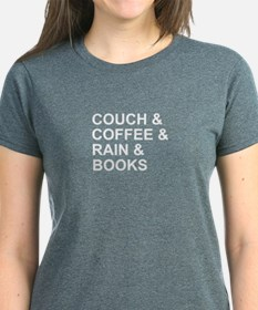 Coffee, Couch, Rain & Books Tee
